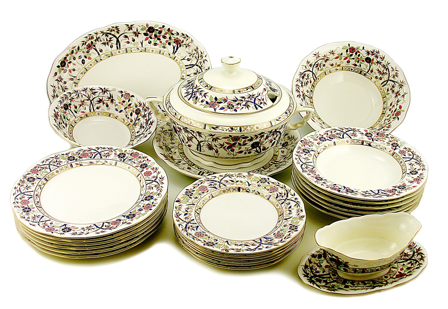 hungarian porcelain zsolnay bamboo decor dinner set for 6 ebay